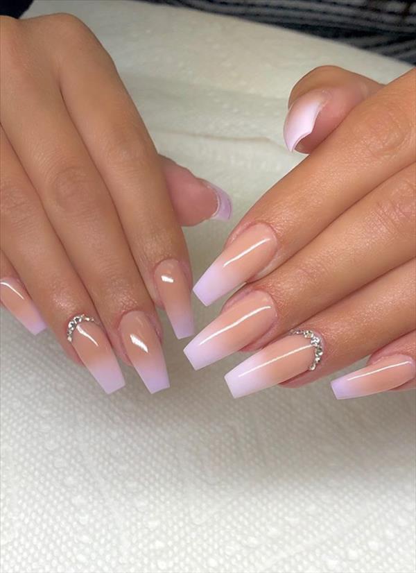 70+ Wedding Natural Gel Nails Design Ideas for Bride 2019