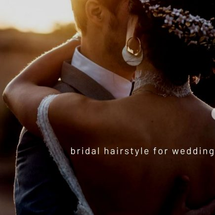 Updo in bridal hairstyle for wedding