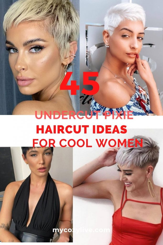 Best Undercut pixie haircuts for cool women