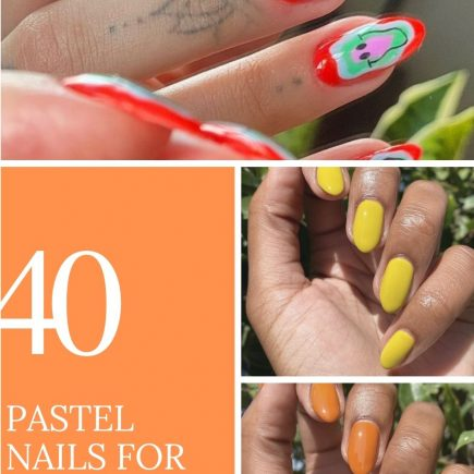 pastel nails with short almond-shaped nails