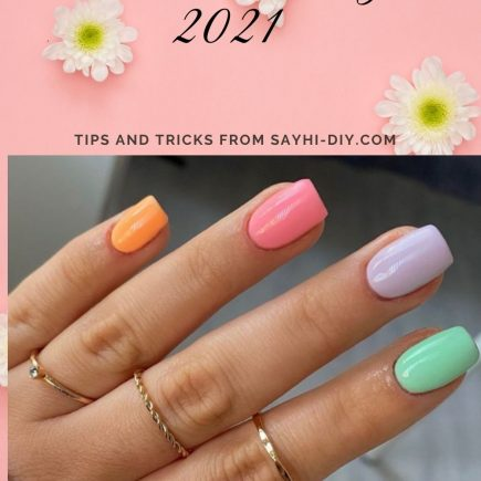 Summer nails 2021| Cute acrylic nail design with short nail shape!