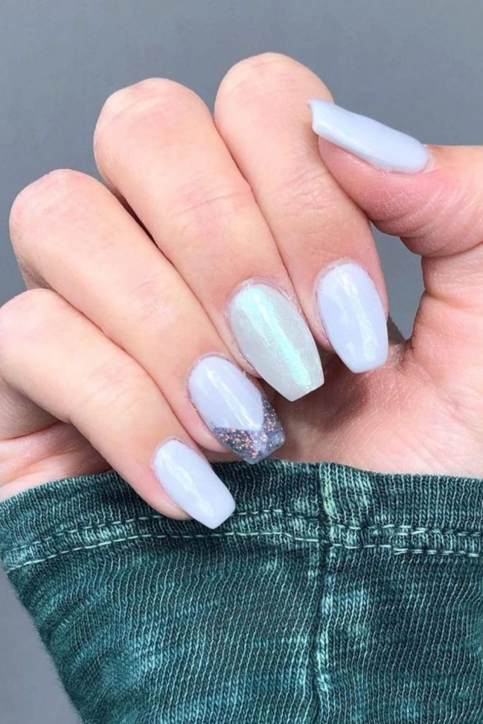 24 Elegant silver nails design for Prom nails to try 2021!