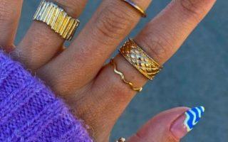 Short almond-shaped nail designs for Summer acrylic nail shape 2021!