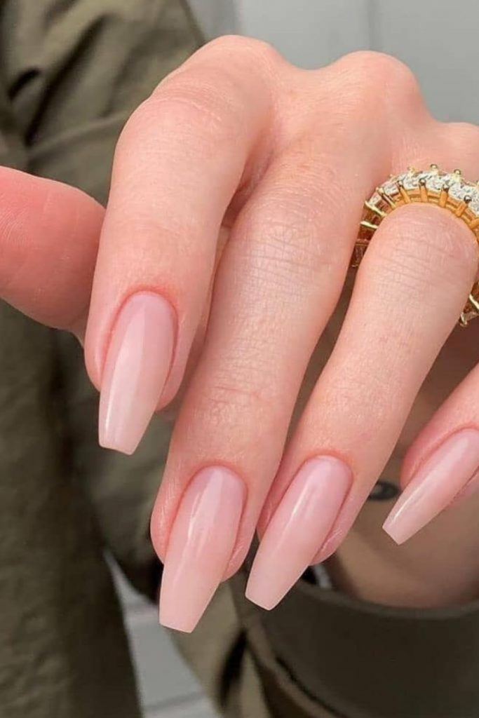 Best acrylic pink coffin nails design ideas to try 2021!