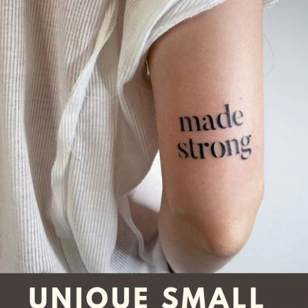 Meaningful small letter tattoo design