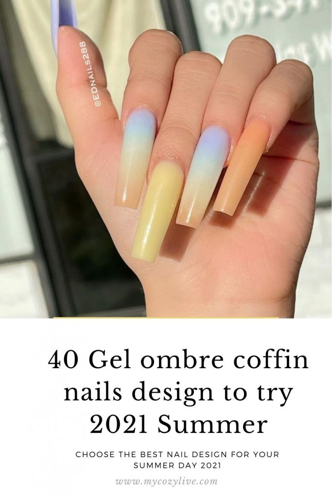 39 Best gel coffin nails design 2021 for Summer nails  to try!