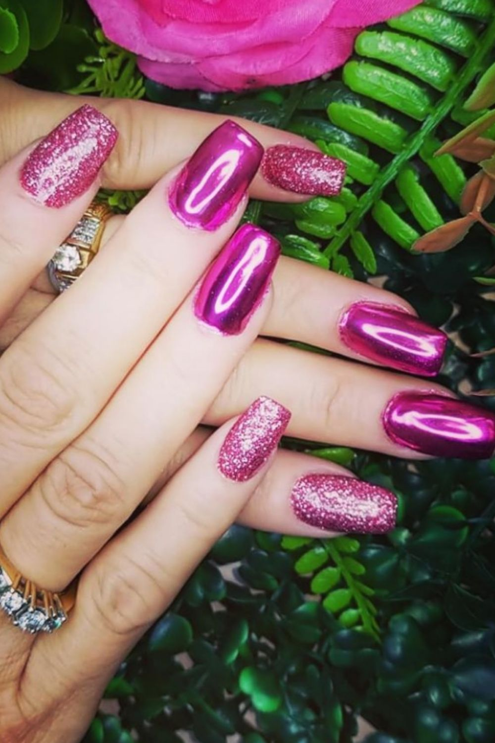 Glitter coffin nails designs and ideas for your summer nails