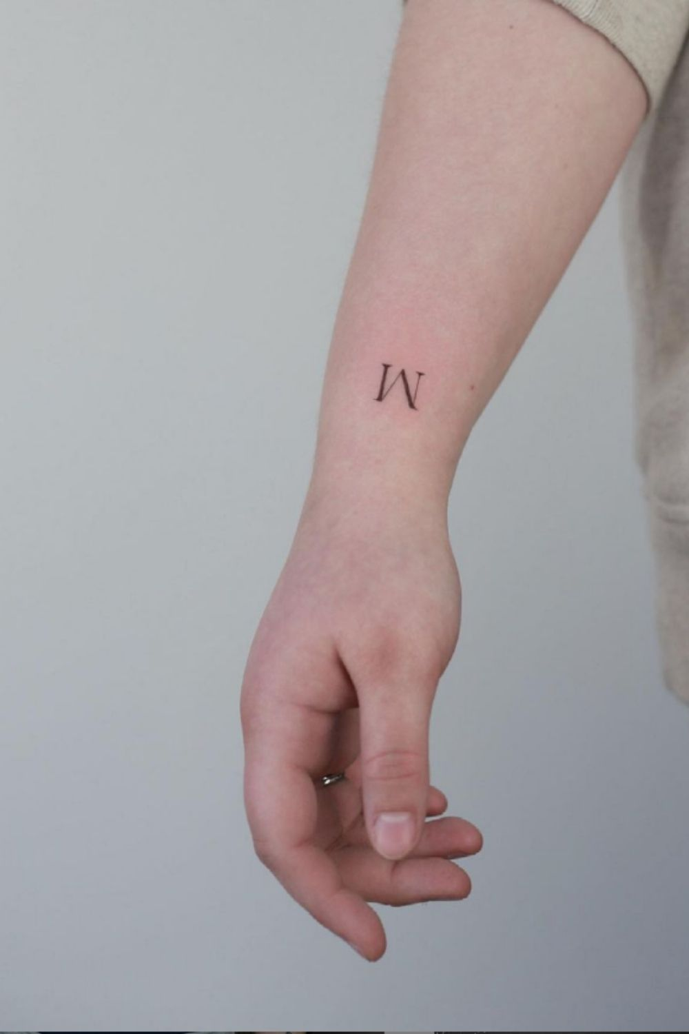 The trend  of small letter tattoo ideas and designs 2021