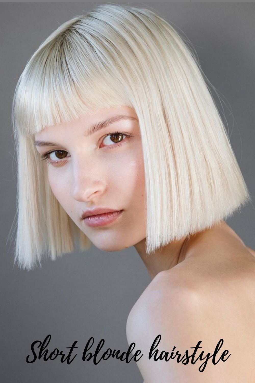 Short Blonde Hairstyles | the 35 trendiest short bob haircuts