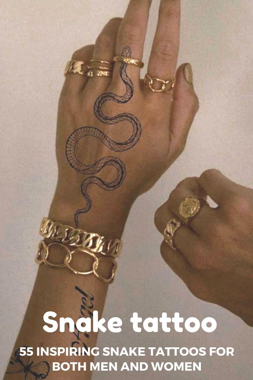 Snake tattoo | 55 Inspiring Snake Tattoos for Both Men and Women