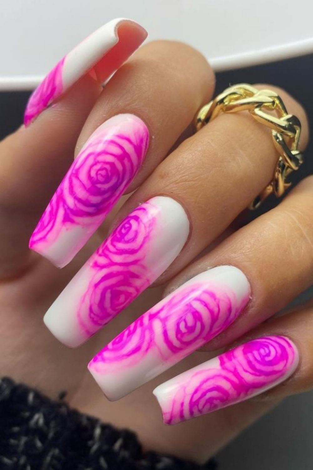Pink ombre nails   the Millennial Version of a French Manicure