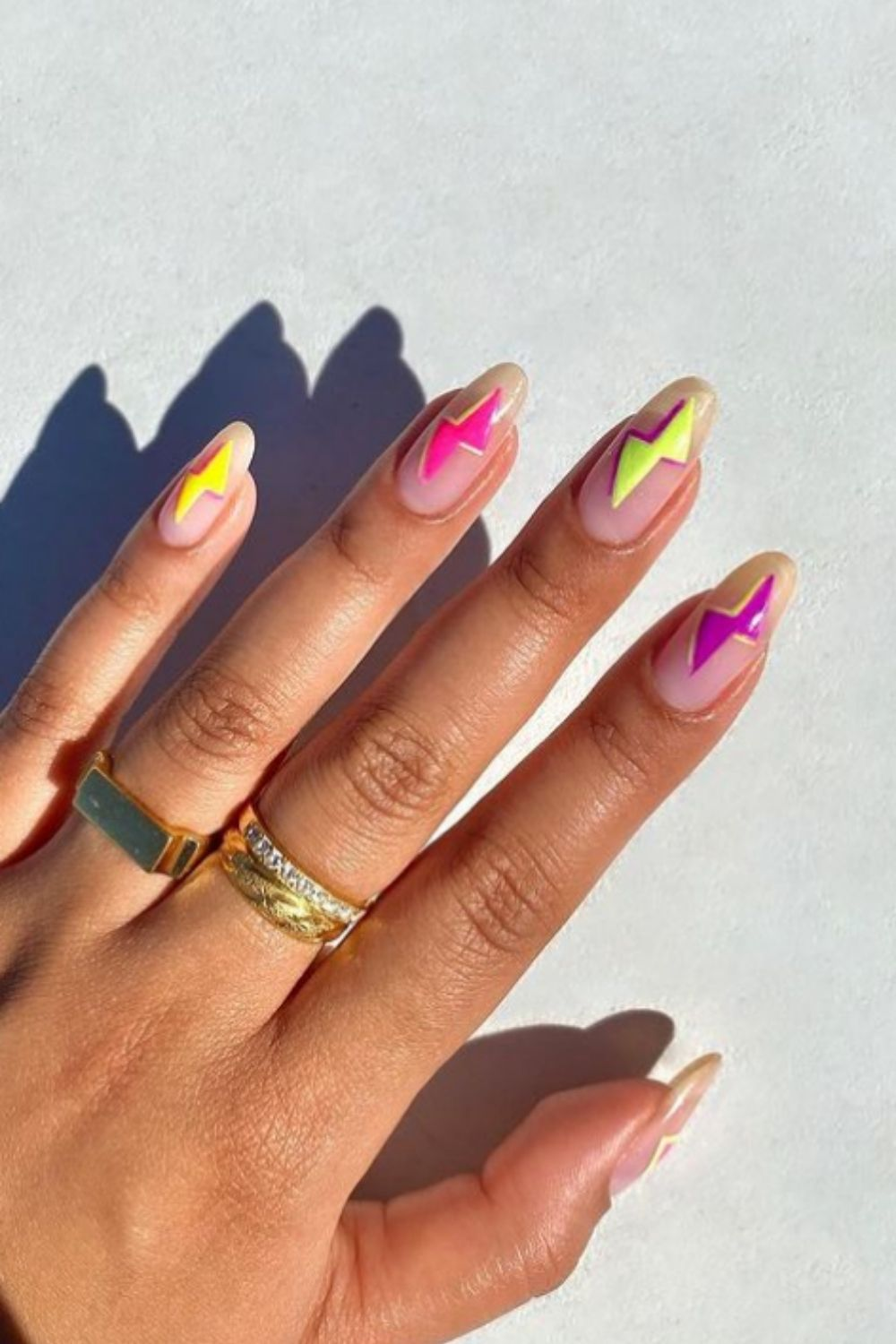 Summer almond nails   To Be All About the Almond Nails This Summer