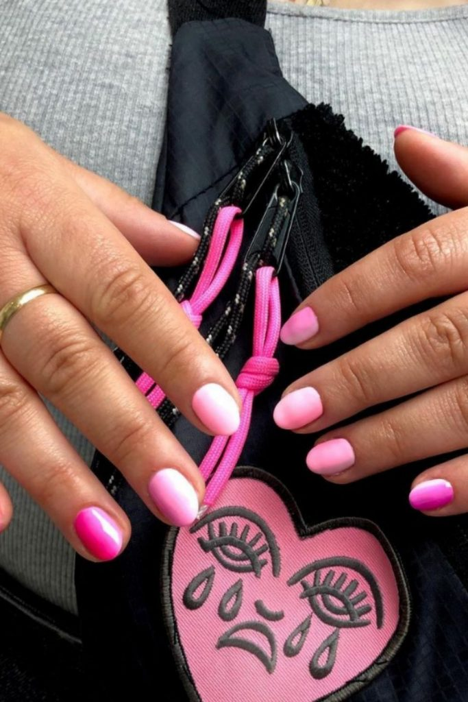 Pink ombre nails | the Millennial Version of a French Manicure
