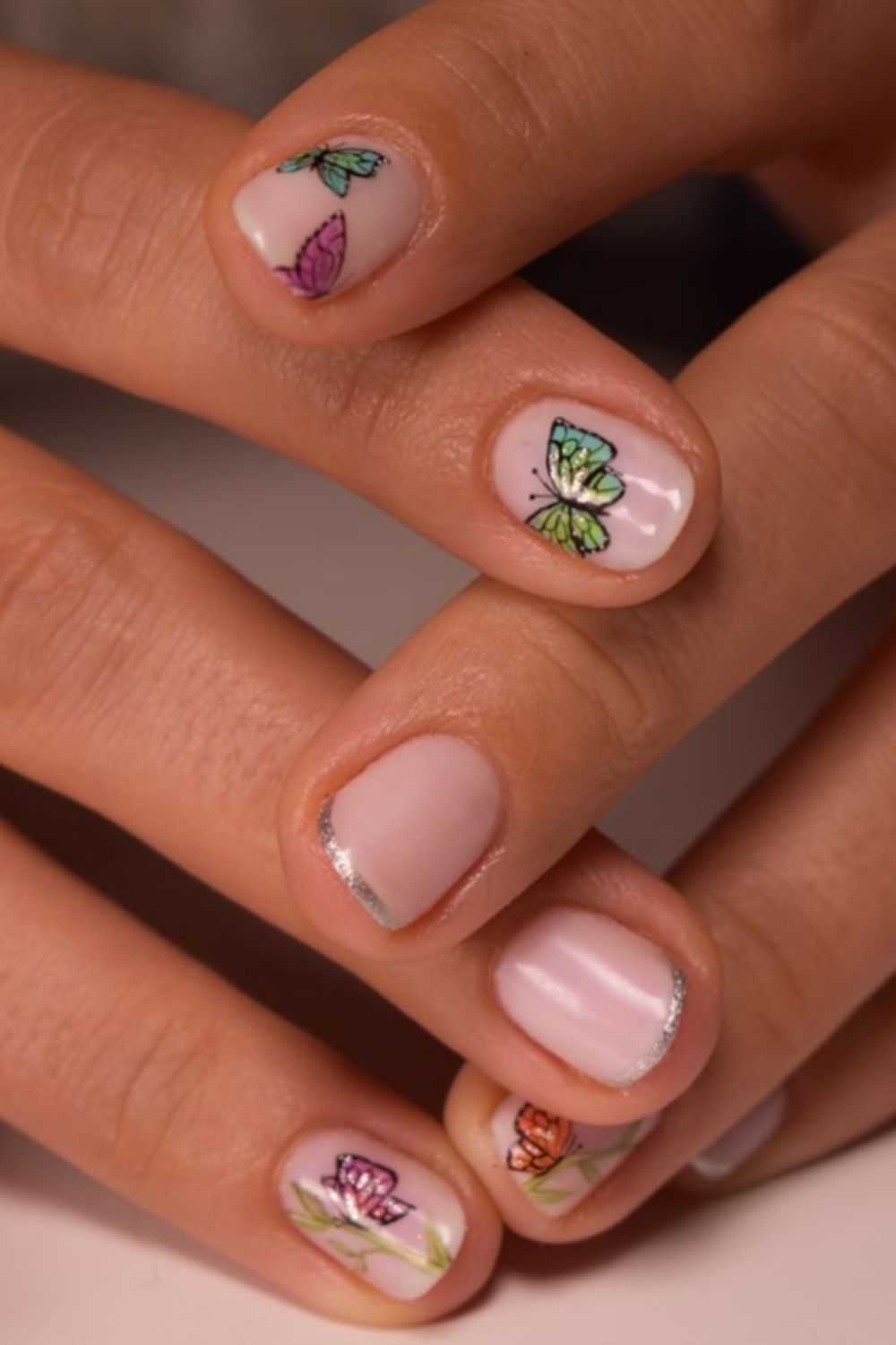 Butterfly nails | best acrylic nails art design for 2021