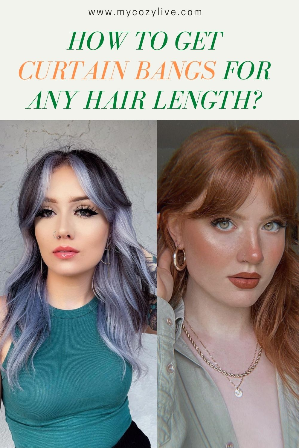 20 Best curtain bangs for any hair length and hair type 2021