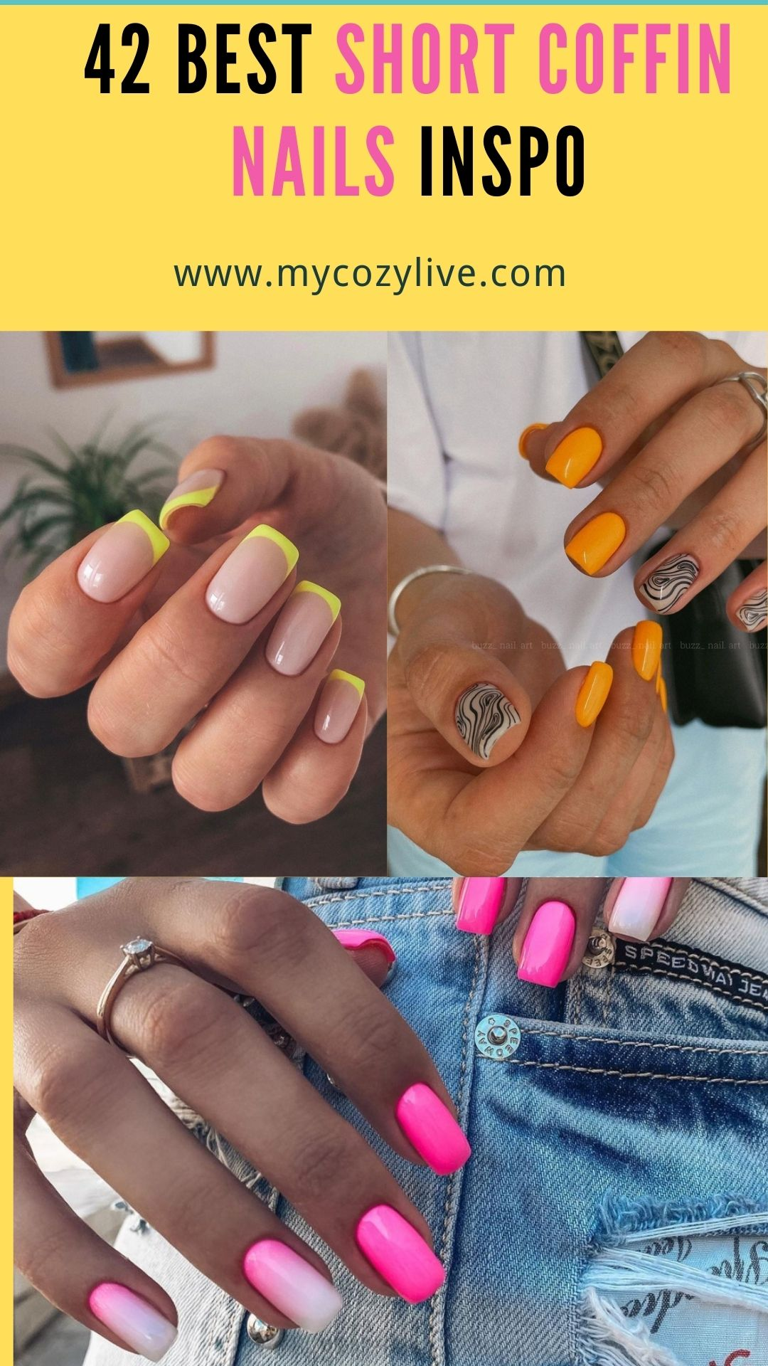 42 Best short square acrylic nails design to rock your Fall days 2021