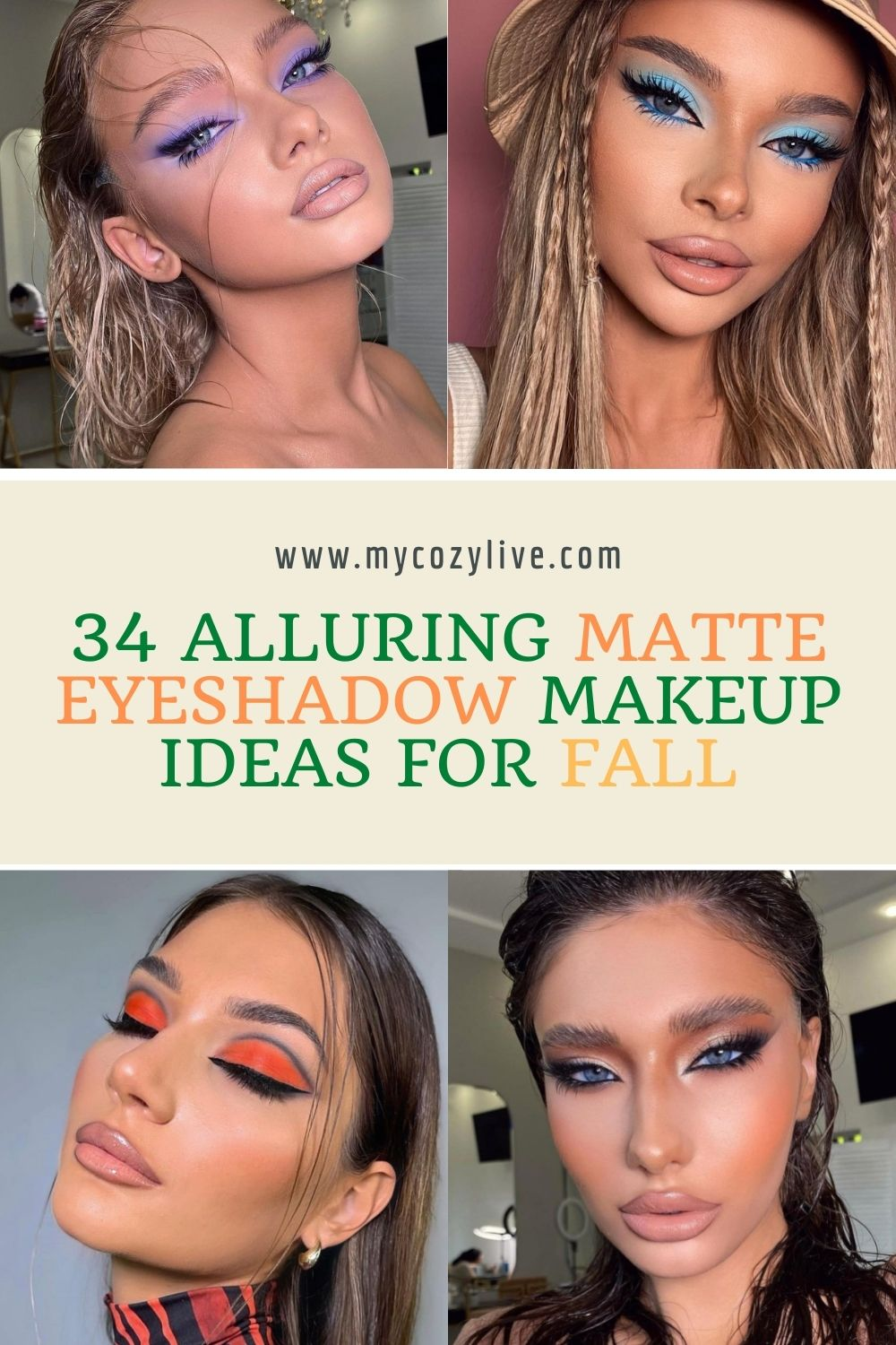 34 Incredible Fall makeup looks with matte eyeshadow ideas 2021