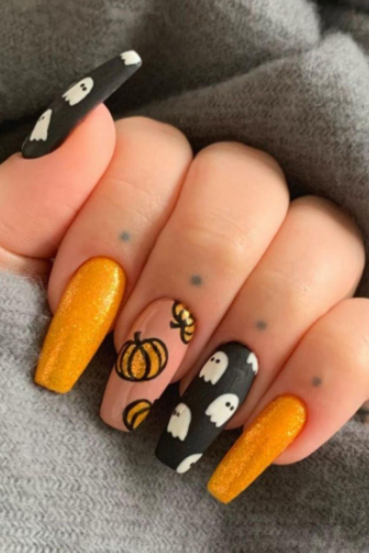 Pumpkin Nails For Halloween