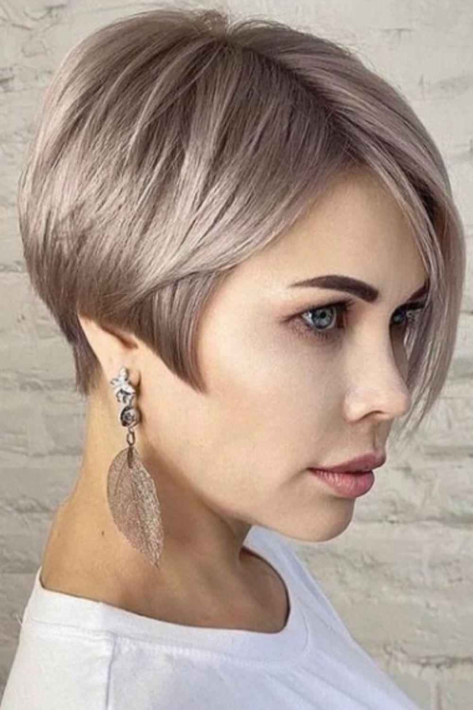 Blonde Asymmetrical Pixie Haircut