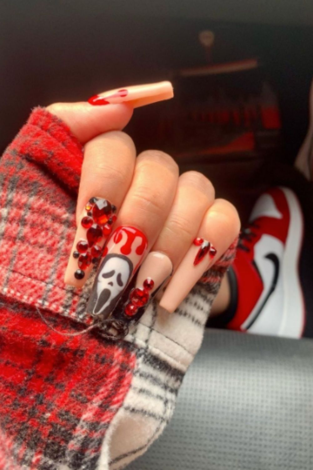 Ghost Nail Design For Halloween Nail