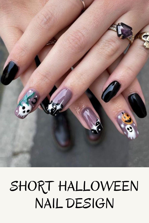 Long Nail ideas For Halloween